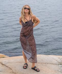 Robe de plage mi-longue Animal pure HKM x NA-KD, Brun