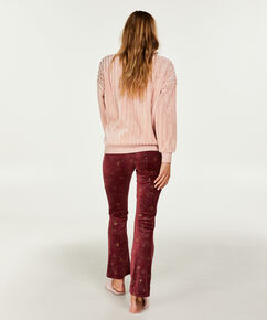 Top lange mouwen fleece, Roze