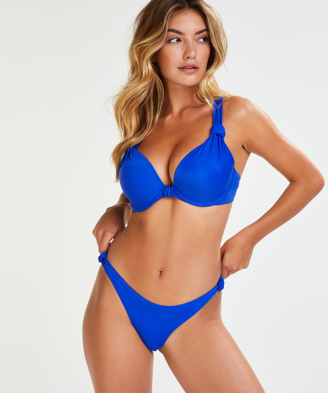 Voorgevormde beugel bikinitop Luxe Cup E +, Blauw, main