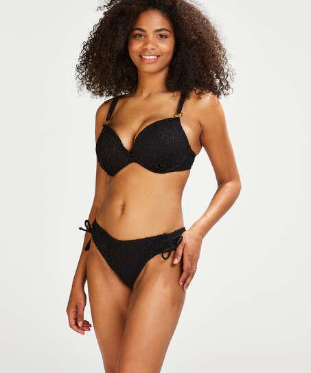 Slip de bikini Rio Crochet, Noir