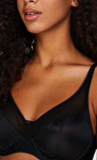 Soutien-gorge à armatures non-préformé minimiseur Nina, Noir