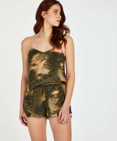 Pyjama shorts, Groen