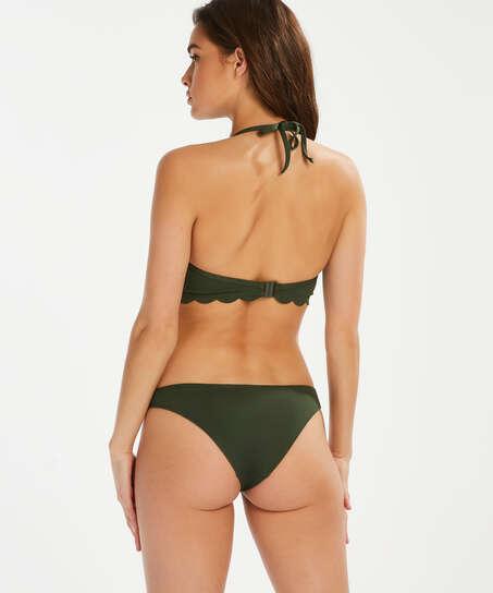 Haut de bikini à armatures à effet push-up préformé Scallop Glam, Vert