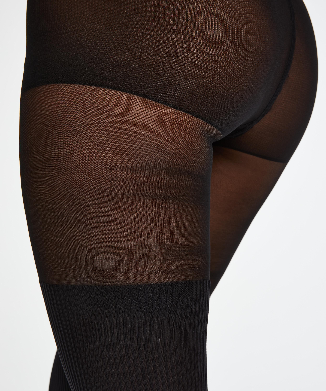Collant 50 deniers Overknee sock, Noir, main