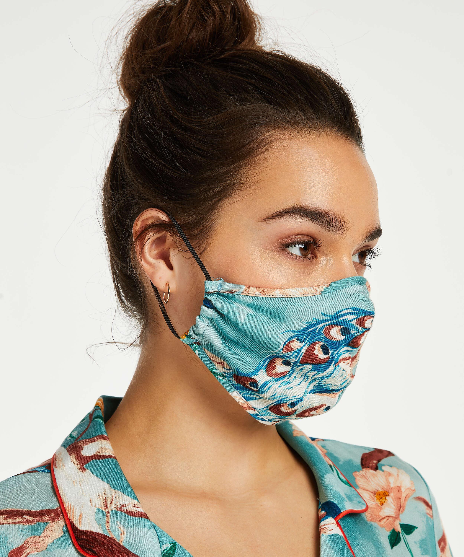 Masque Print, Bleu, main