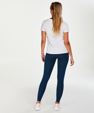 T-shirt de sport à manches courtes HKMX, Blanc