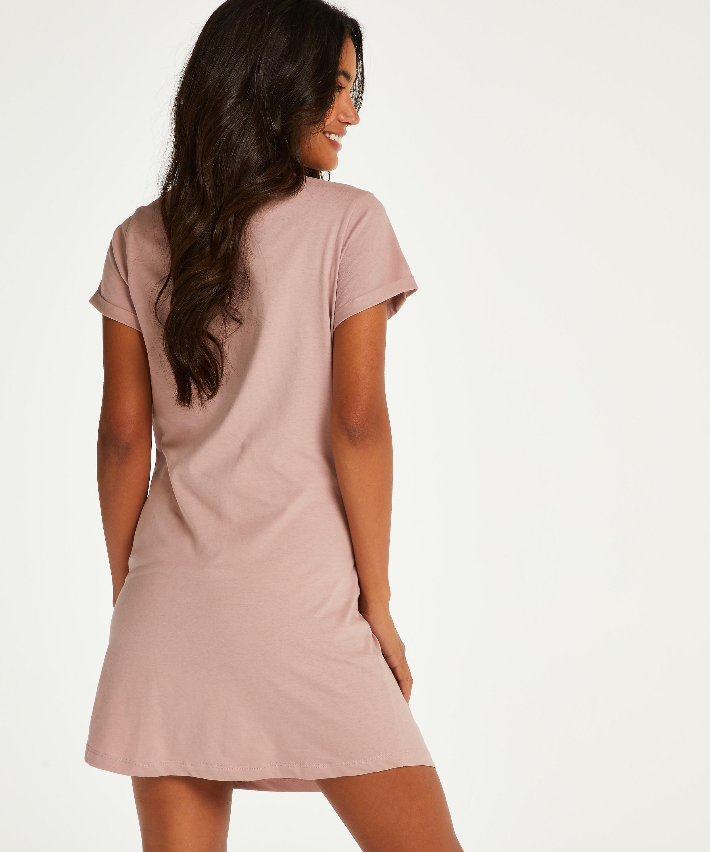 T-shirt de nuit grossesse à manches courtes, Rose, main