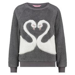 Lange mouwen fleece sweater, Grijs
