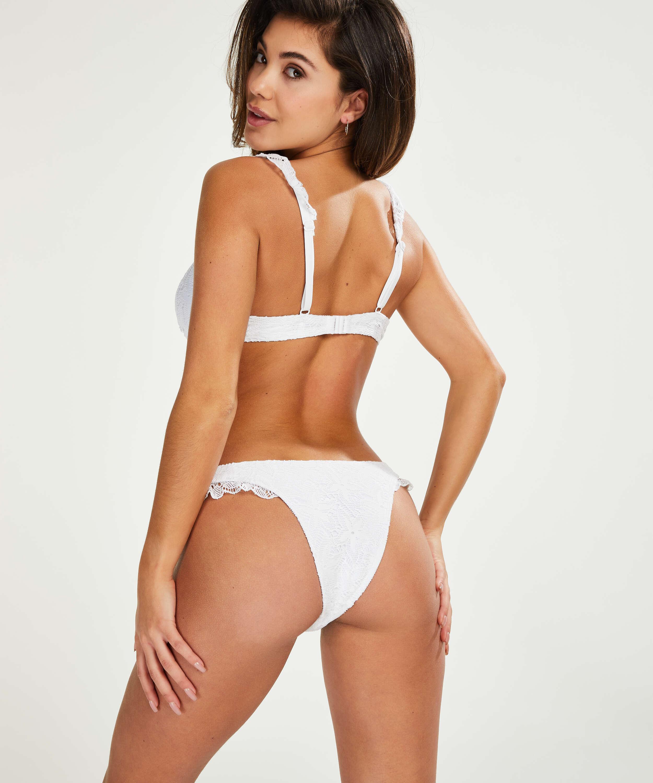 Haut de bikini à armatures non préformé Top Etta Crochet , Blanc, main