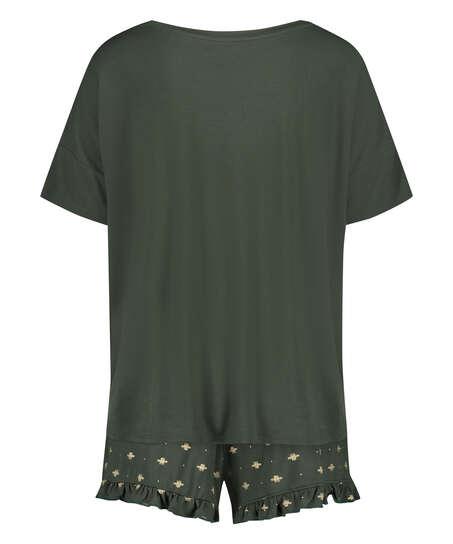 Korte pyjama set, Groen