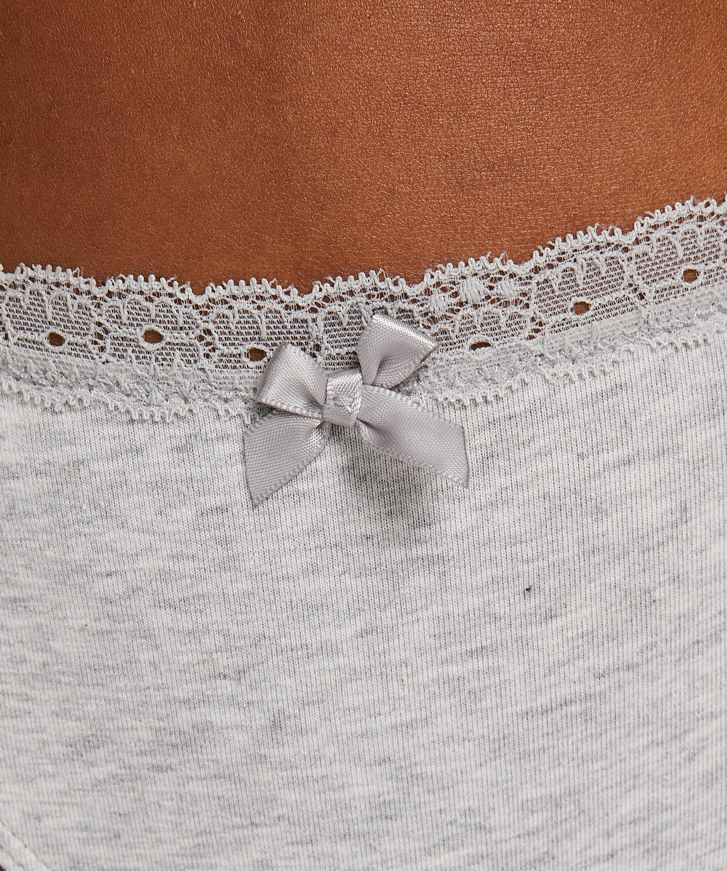 String coton, Gris, main