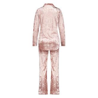 Pyjama Boyfriend crushed velour, Rose