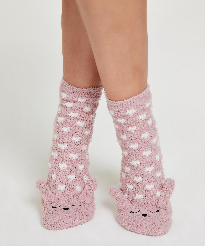 1 paire de chaussettes Cozy Bunny, Rose, main
