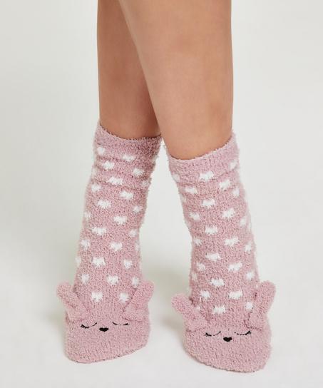 1 paire de chaussettes Cozy Bunny, Rose
