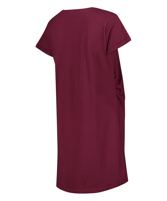 T-shirt de nuit grossesse à manches courtes, Rouge, main