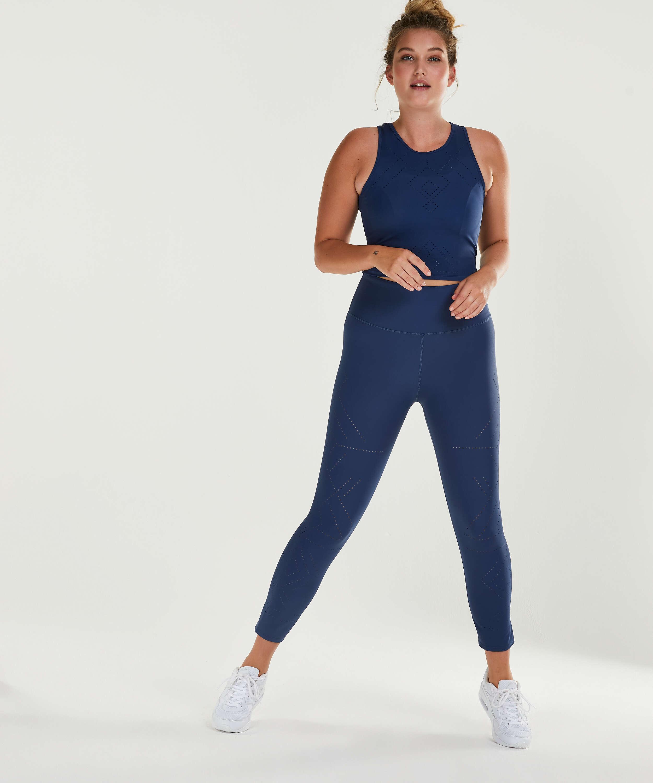 Legging de sport HKMX court Naira taille haute, Bleu, main