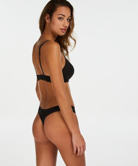 Voorgevormde push-up beugel bh Angie, Zwart