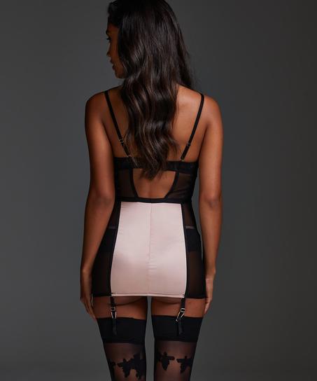Slip dress Amelia à armature préformée, Noir