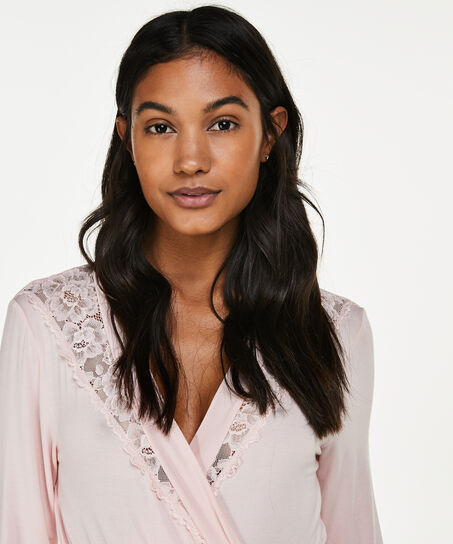 Peignoir Modal Lace, Rose