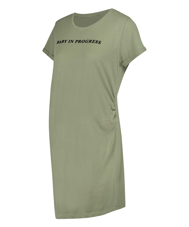 T-shirt de nuit grossesse à manches courtes, Vert, main