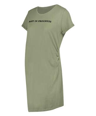 Zwangerschapsnachthemd met korte mouwen, Groen