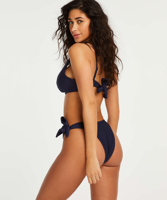 Hoog uitgesneden brazilian bikinibroekje Harper, Blauw, main