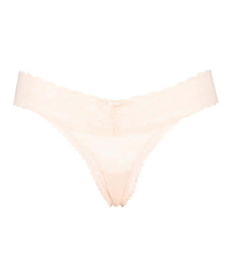 Extra lage v-string, Roze