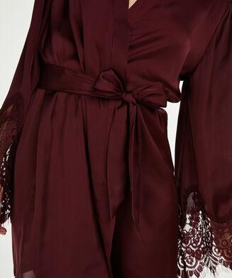 Kimono Satin lace, Rood
