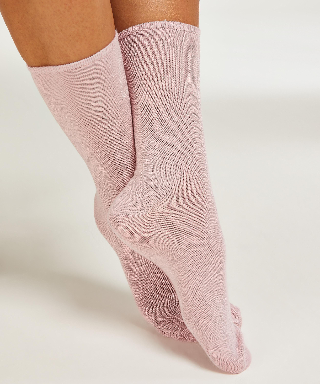 2 paar sokken Floral Soft Touch, Wit, main