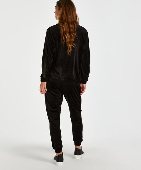Haut velours Shimmer, Noir