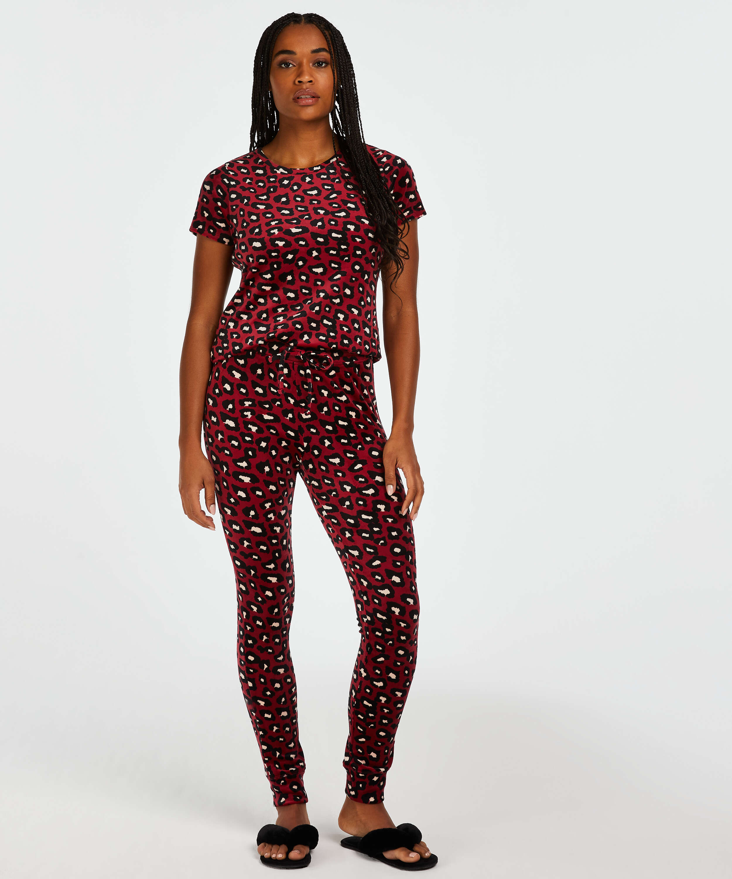 Top Velours, Rood, main