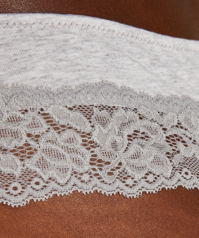 Boxer string Coton, Gris, main