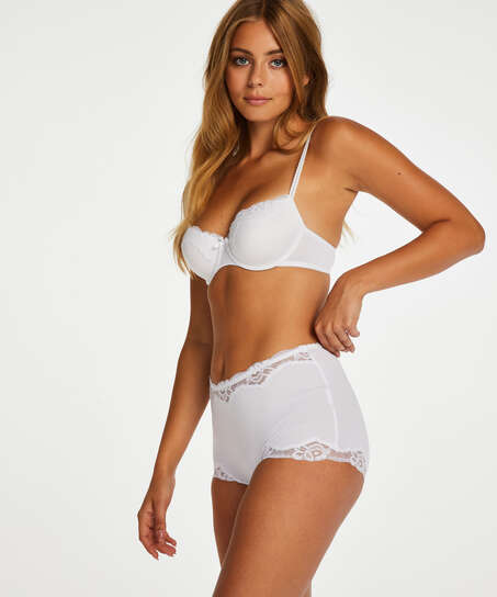Boxer Secret lace, Blanc