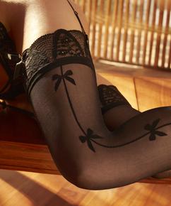 Stocking Bow Rebecca Mir, Zwart