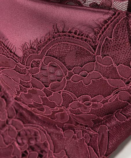 Soutien-gorge à armatures préformé longline Heather, Rouge