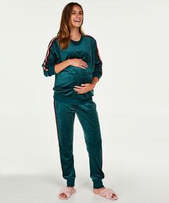 Top de grossesse en velours, Vert
