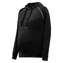 Sweat-shirt à capuche de grossesse, Noir