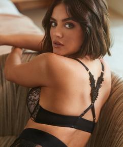Voorgevormde push-up beugel bh Kelsey Lucy Hale, Zwart