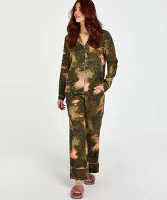 Pyjamatop lange mouwen World Map, Groen
