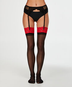 Stocking 30 Denier Lace, Rood