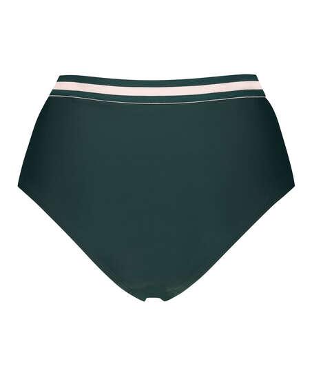 Bas de bikini taille haute effronté Pinewood, Vert