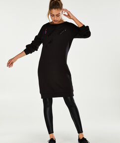 Robe sweat HKMX Oversize, Noir