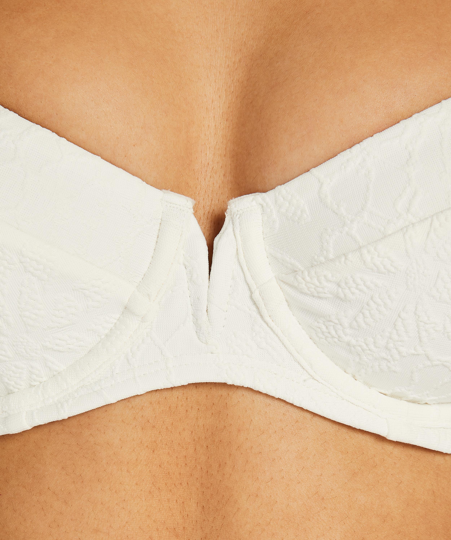 Niet-voorgevormde beugel bikinitop Libby, Wit, main