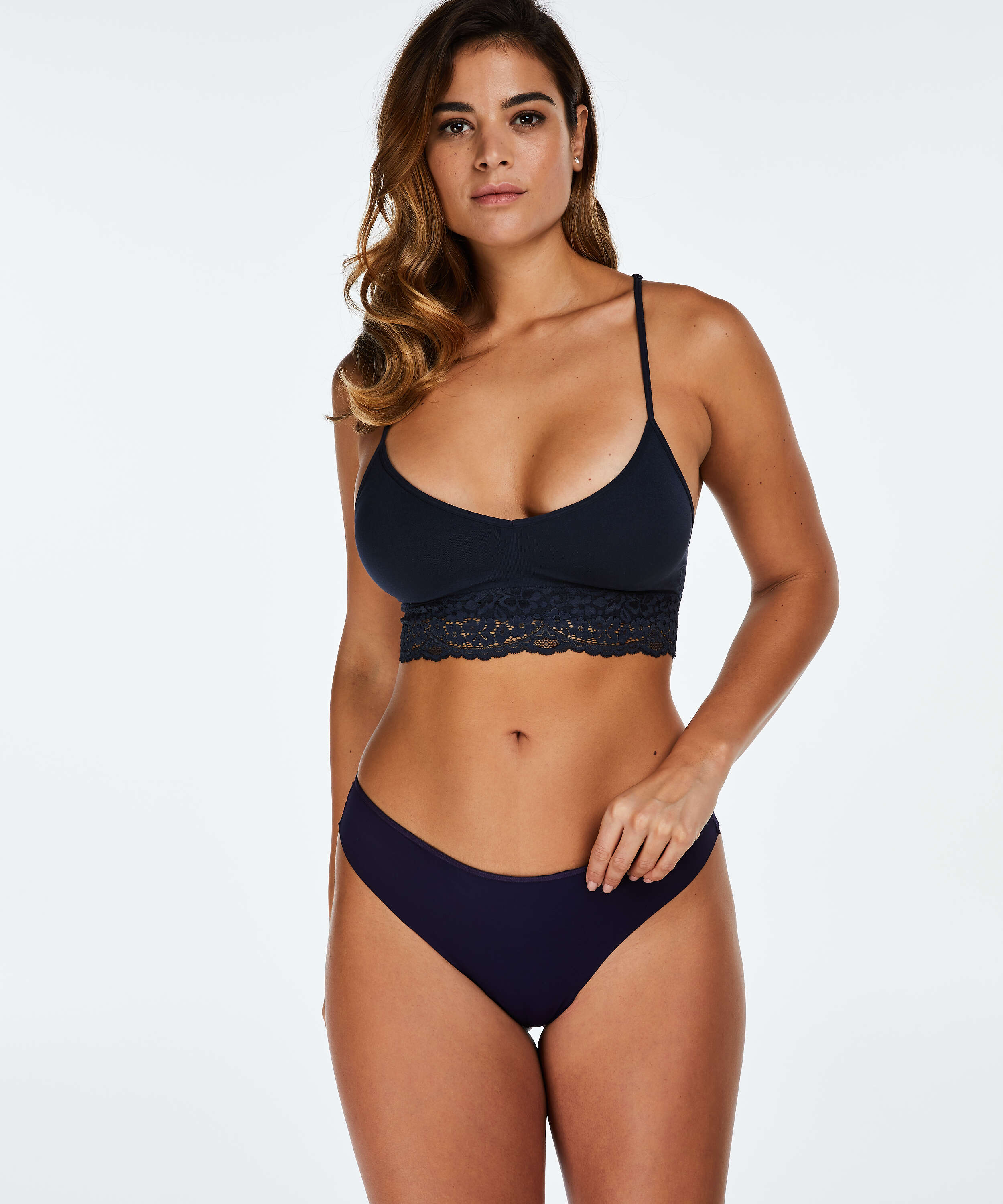 Invisible string Lace back, Blauw, main