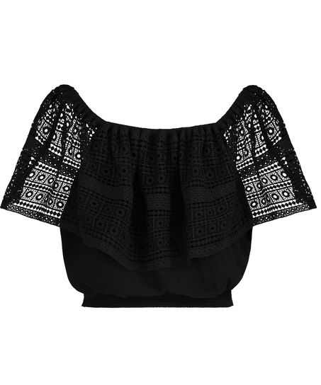 Top Crochet, Zwart