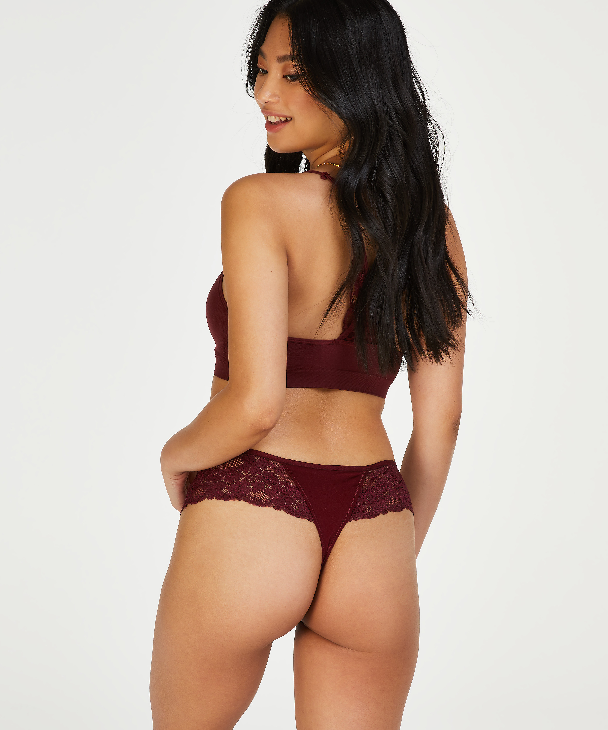 Boxer string Nellie, Rouge, main