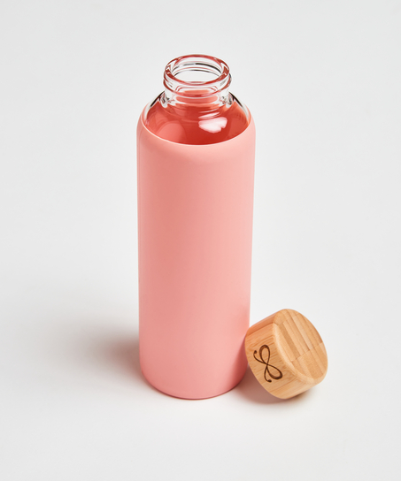 Glazen waterfles, Roze