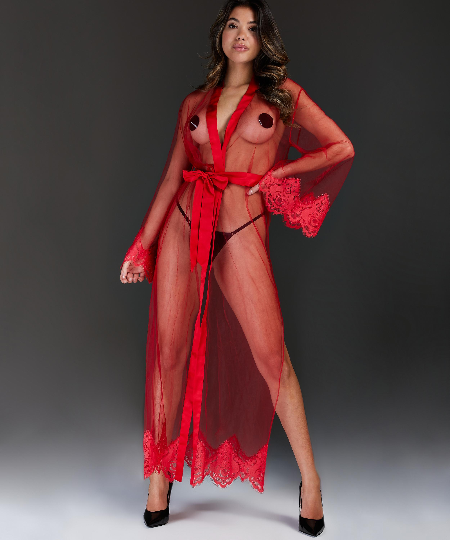 Lange Kimono Cravache, Rood, main