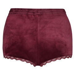 Short Velours Lace, Rouge