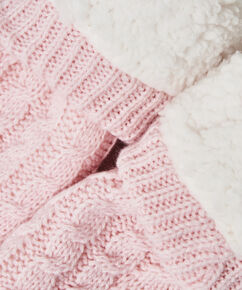 Chaussons Knit, Rose